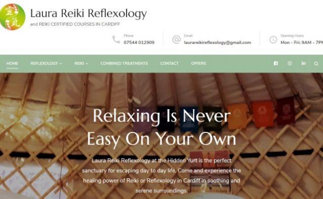 Laura Reiki & Reflexology | Ingenuous | Website Design & Marketing